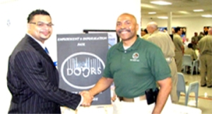 Left: Antonio Anderson, Teacher  Right: Warden C.V. Rivera