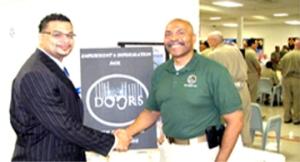 Left: Antonio Anderson, Teacher  Right: Warden C.V. Rivera
